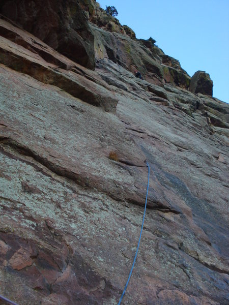 Andrew at the first belay