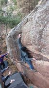 Rock Climbing Photo: Paradigm Shift, V6. Hard to Find, harder to ascend...