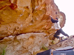 Rock Climbing Photo: Zack warming up...?