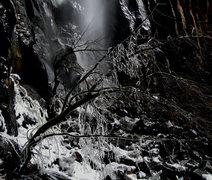 Rock Climbing Photo: The base of the falls, spring, 2010.