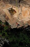Rock Climbing Photo: James Q Martin enjoying the wide open ride down, a...