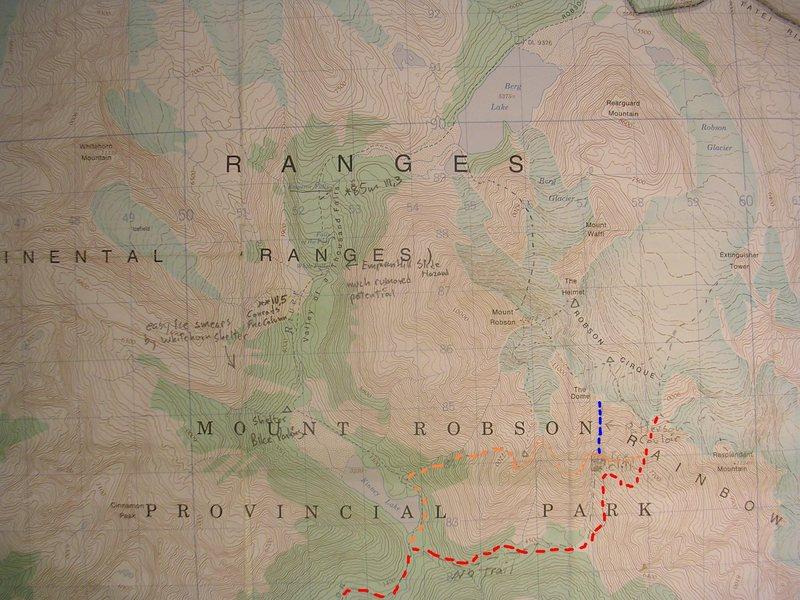 Rock Climbing Photo: Patterson Couloir contour interval 100 feet one ki...