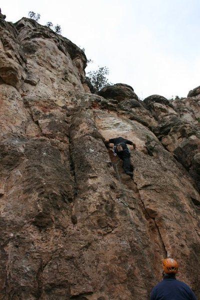 Rock Climbing Photo: Ben Larson starting Ladies Night In Buffalo.