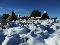 Rock Climbing Photo: snowy Dec day at the Druids