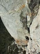 Rock Climbing Photo: Jascha approaching the P1 belay