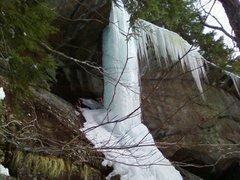 Rock Climbing Photo: Ice pillar at Lower Cliff, February of last year