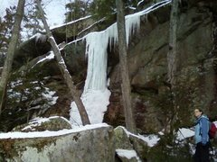 Rock Climbing Photo: Ice Pillar Lower Cliff, February of last year