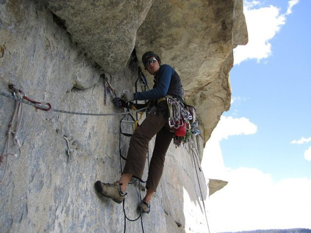 Rock Climbing Photo: Getting into the Salathe headwall