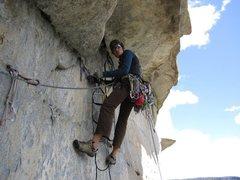 Rock Climbing Photo: Getting into the Salathe headwall