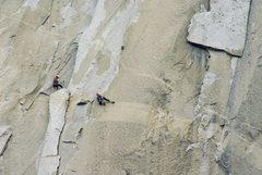 Rock Climbing Photo: The king swing on nose in a day, 15 hours. When yo...