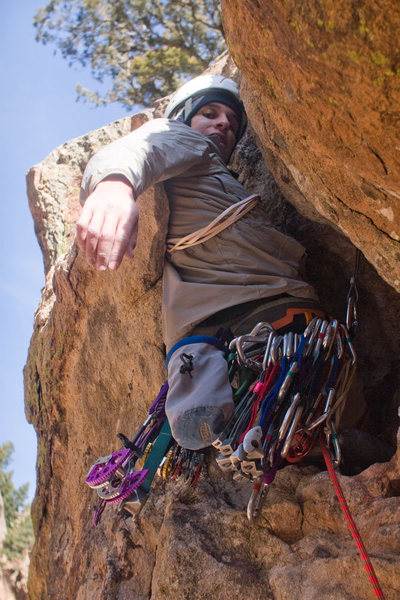 Rock Climbing Photo: The odd cruxy boulder-like butt-rest.  This actual...