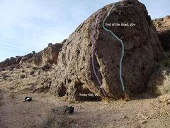 Rock Climbing Photo: Wayko Boulder (Top Gun Boulders are in the left-ha...