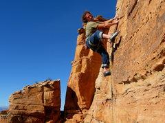 Rock Climbing Photo: James Q Martin enjoying a taste of his own medicin...