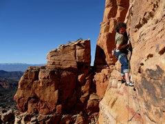 Rock Climbing Photo: James warming up...