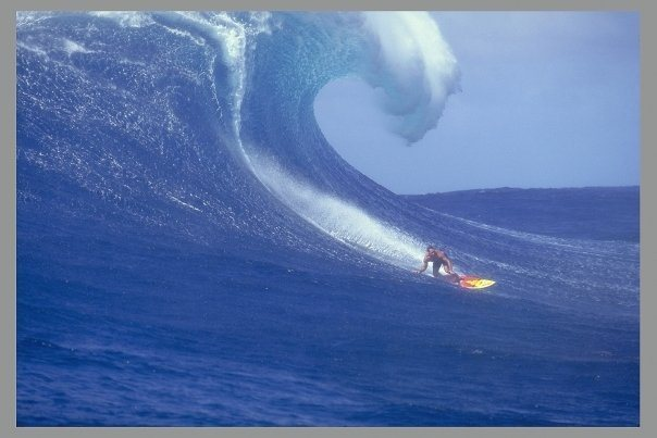 The legendary Mike Waltze at Jaws back in the 90's
