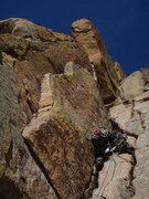 Rock Climbing Photo: Nathan Meader leading Turkeys Delight.