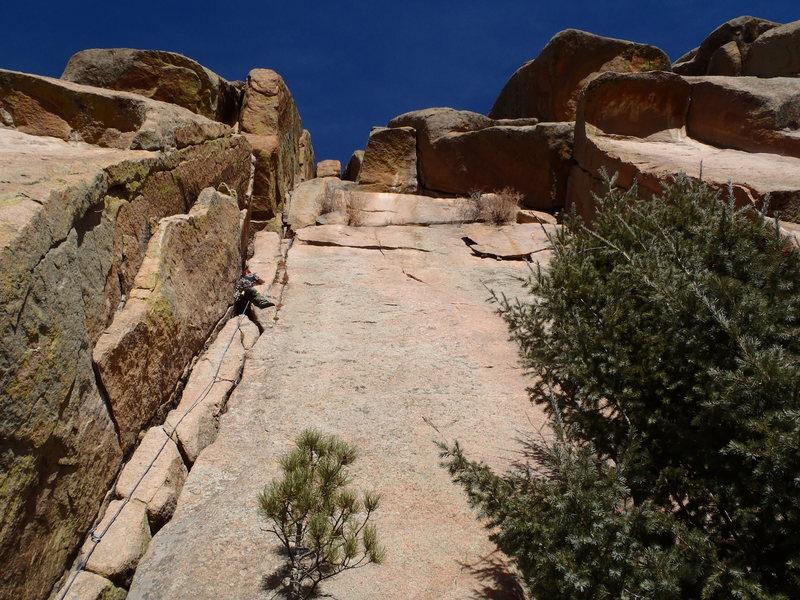 Rock Climbing Photo: Nate a little higher up Turkey's Delight.