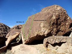 Rock Climbing Photo: Split Melon right routes