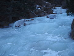 Rock Climbing Photo: Ice up above the waterfall.