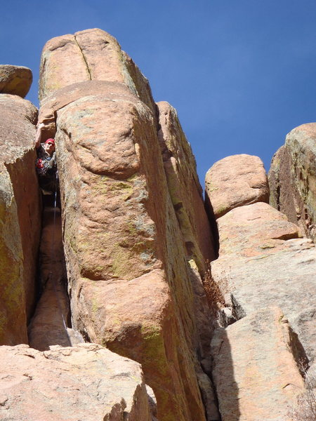 Rock Climbing Photo: Nate Meader working up the Dark Meat variation to ...