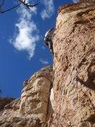 Rock Climbing Photo: Eric leading Gen X ation.