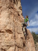 Rock Climbing Photo: Carl leading Crab Nation.