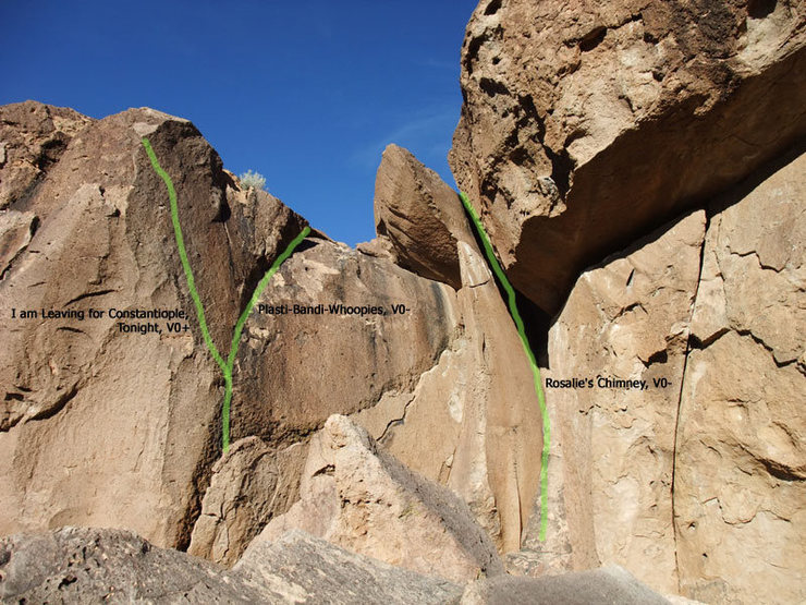 Rock Climbing Photo: routes on the right side of the Offwidth area