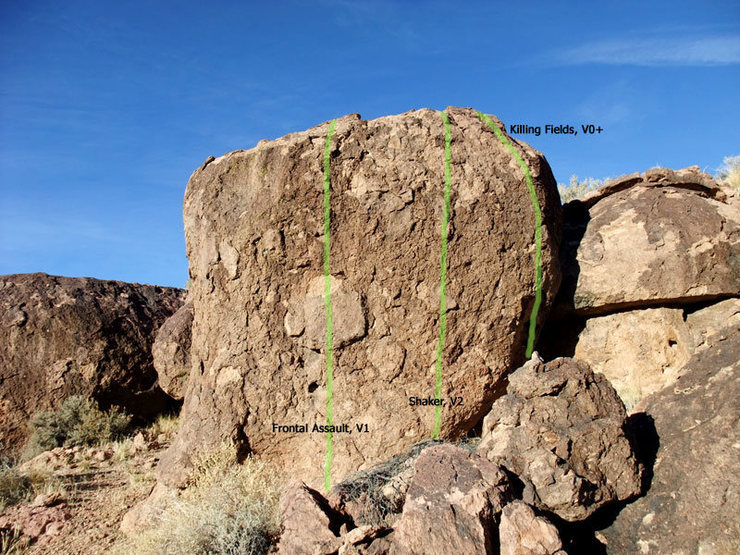 Rock Climbing Photo: routes on the south side of The Citadel