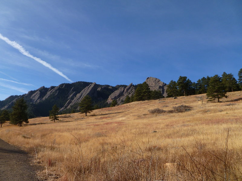 Flatirons as viewed from the trail...Dec. 2010.