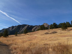 Rock Climbing Photo: Flatirons as viewed from the trail...Dec. 2010.