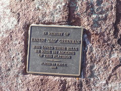Rock Climbing Photo: The plaque at the top of the 3rd.