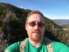 Rock Climbing Photo: Different angle summit shot...my mug.