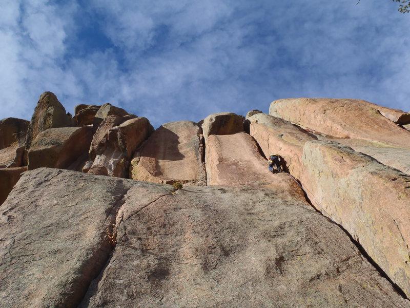Rock Climbing Photo: Gettin' some thin hands.
