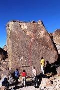 Rock Climbing Photo: Black Magic Boulder Topo