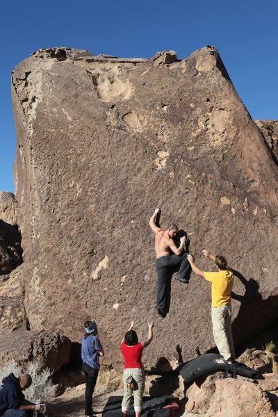 Rock Climbing Photo: Starting out on Black Magic, V3 X