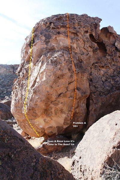 Rock Climbing Photo: Rio Rose Boulder Topo