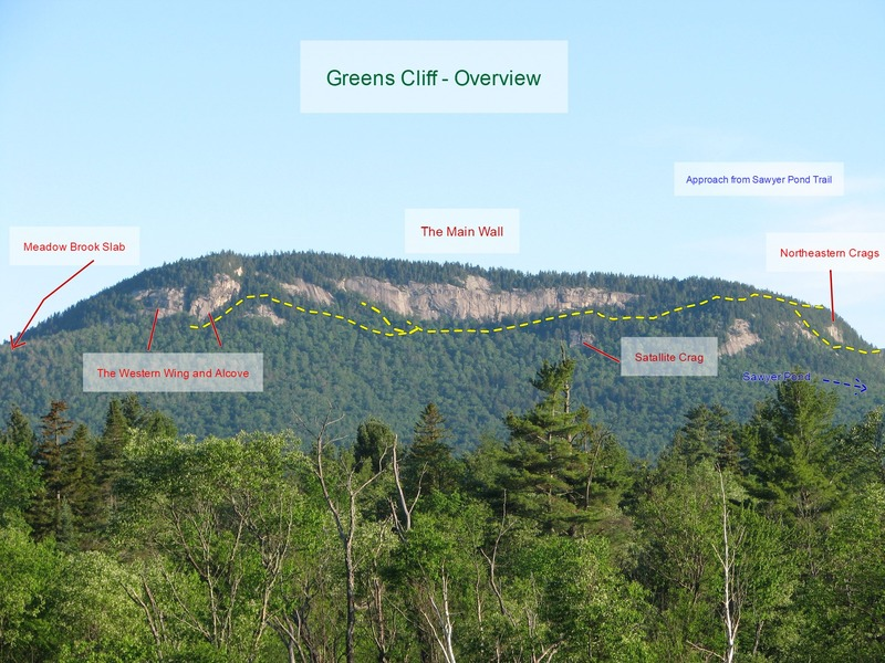 Rock Climbing Photo: Green's Cliff Overview - from the Kanc