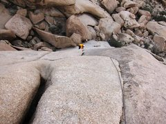 Rock Climbing Photo: Looking down on pitch 2 of Wilkinson Sword