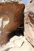 Rock Climbing Photo: Water Saps Cave Topo