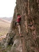 Rock Climbing Photo: Ben Eaton make the first cruxy move.