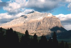 Rock Climbing Photo: The south aspect of Mt. Temple.