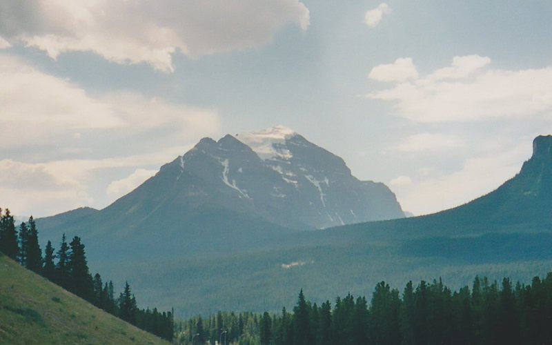 Rock Climbing Photo: Temple from the Icefields Parkway to the Northeast...