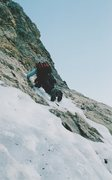 """Rock Climbing Photo: The rightward traverse out of """"The Dolphin&qu..."""