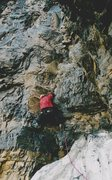Rock Climbing Photo: Beginning up the wet chimney atop the upper snowfi...