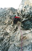 Rock Climbing Photo: Another pitch up the Rock Rib.