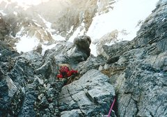 Rock Climbing Photo: Nearing the top of the wall.  The bulbous summit o...