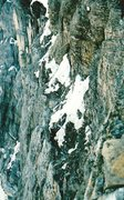 Rock Climbing Photo: Yet another chossy ledge traverse, this time to th...