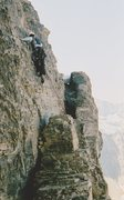 Rock Climbing Photo: The final boulder problem to reach the top of the ...