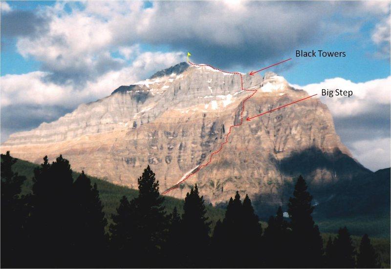Rock Climbing Photo: East Ridge Topo.
