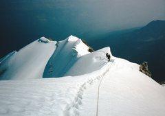 Rock Climbing Photo: Midway along the ridge.